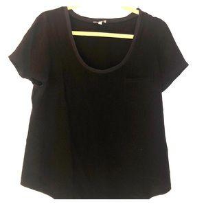Joie black, silk tee with pocket